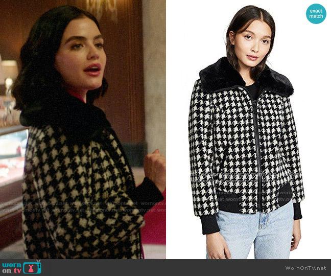 Jocelyn Teddy Bomber Jacket worn by Katy Keene (Lucy Hale) on Katy Keene