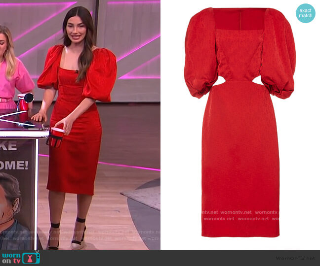 Forgotten Virtues Dress by Johanna Ortiz worn by Lily Aldridge on The Kelly Clarkson Show worn by Kelly Clarkson  on The Kelly Clarkson Show