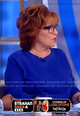 Joy's blue crew neck sweater on The View