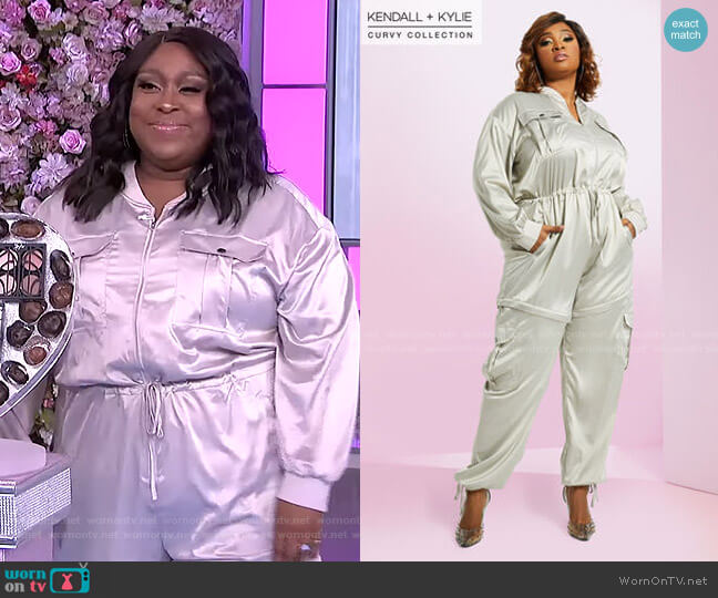 2 in 1 Jumpsuit by Kendall + Kylie worn by Loni Love  on The Real