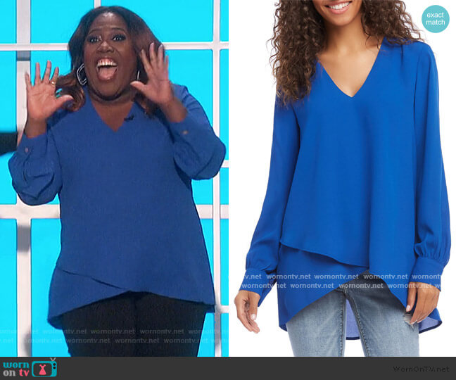 Split Back Crossover Top by Karen Kane worn by Sheryl Underwood  on The Talk