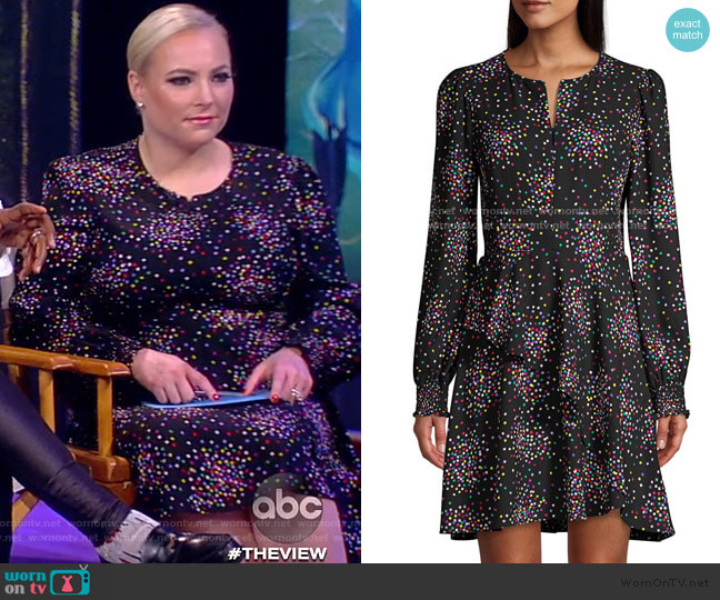 Confetti Cheer Fit & Flare Dress by Kate Spade worn by Meghan McCain  on The View