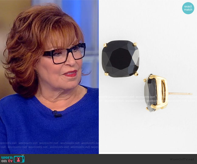Square Semiprecious Stone Stud Earrings by Kate Spade worn by Joy Behar  on The View