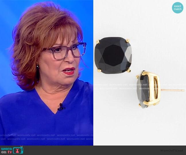 Mini Square Semiprecious Stone Stud Earrings by Kate Spade worn by Joy Behar  on The View