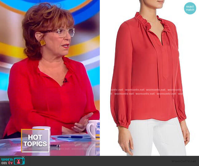 Darcy Silk Blouse by Kobi Halperin worn by Joy Behar  on The View