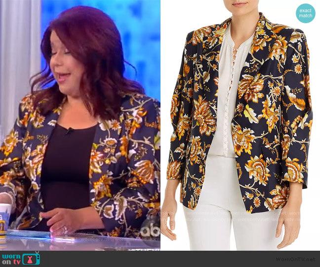 Maria Floral One-Button Silk Jacket by Kobi Halperin worn by Ana Navarro  on The View