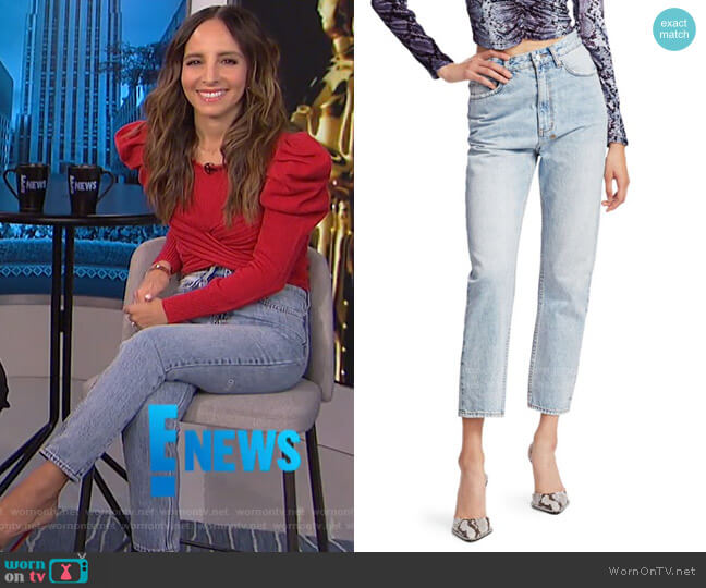 Bring Back Life Chloe Karma High-Rise Cropped Jeans by Ksubi worn by Lilliana Vazquez  on E! News