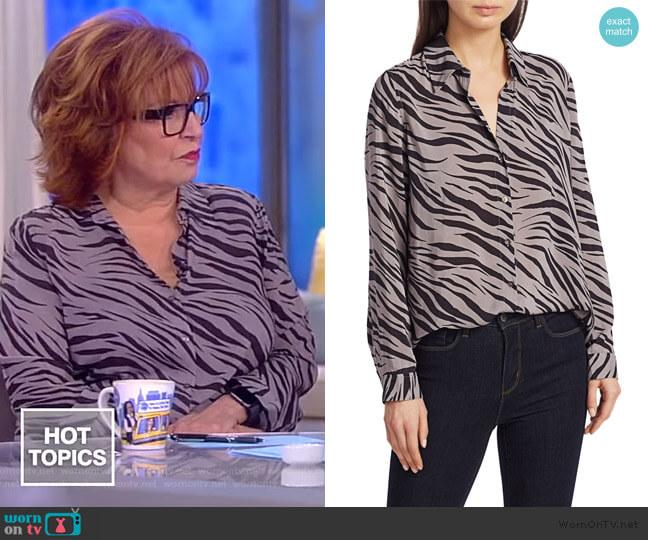 Nina Zebra Print Blouse by L'Agence worn by Joy Behar  on The View