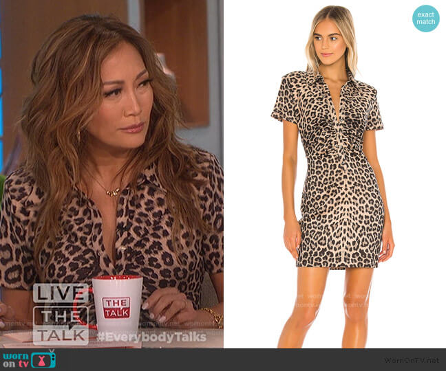 Jacinda Dress by LPA worn by Carrie Inaba  on The Talk