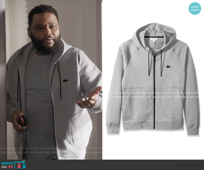 Milano UNI Sweatshirt by Lacoste worn by Andre Johnson (Anthony Anderson) on Blackish