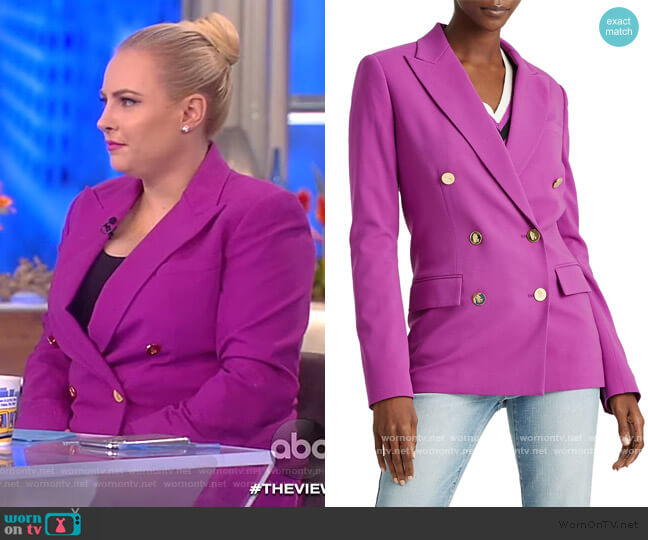 Double-Breasted Blazer by Lauren Ralph Lauren worn by Meghan McCain  on The View