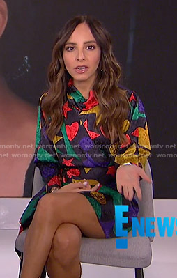 Lilliana's printed asymmetric mini dress on E! News
