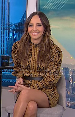 Lilliana's printed knit mini dress on E! News