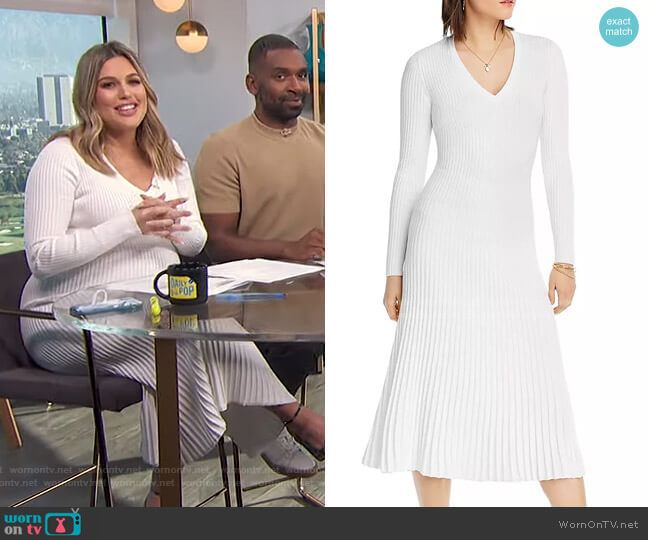 Carolyn Ribbed Sweater Dress by Lini worn by Carissa Loethen Culiner  on E! News