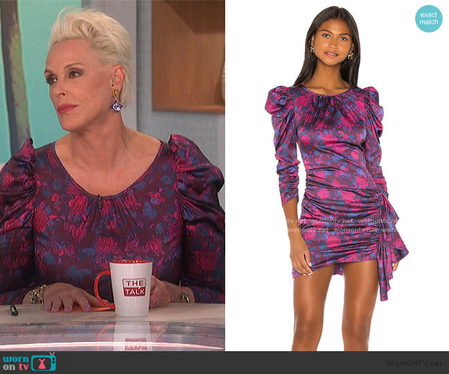 Endless Mini Dress  by For Love & Lemons worn by Brigitte Nielsen on The Talk