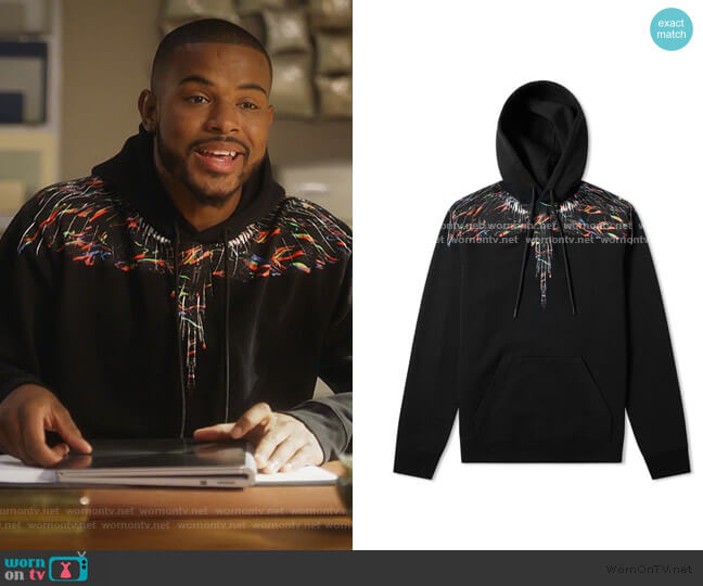 Wings Hoody by Marcelo Burlon worn by Aaron Jackson (Trevor Jackson) on Grown-ish