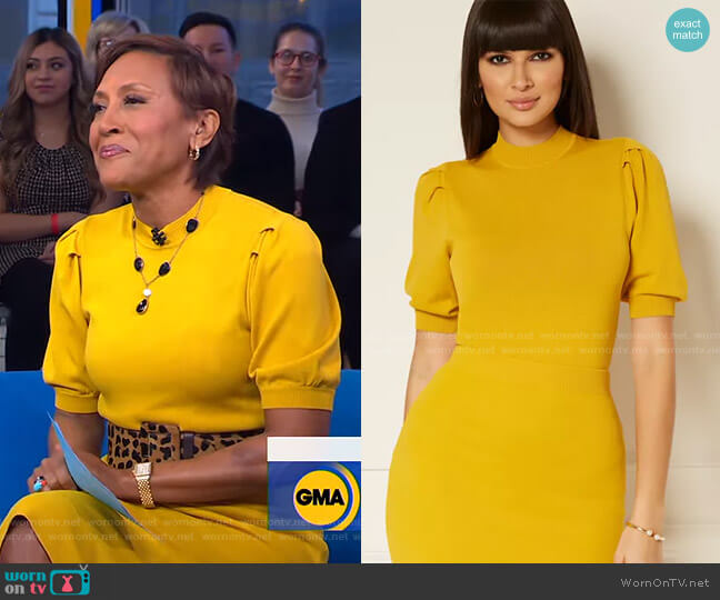 Millie Sweater - Eva Mendes Collection by New York & Company worn by Robin Roberts  on Good Morning America