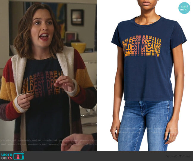 The Boxy Goodie Goodie Tee by Mother worn by Angie (Leighton Meester) on Single Parents