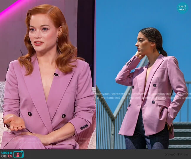 Fall Winter 2019 Collection by Mantu Castor worn by Jane Levy on The Talk