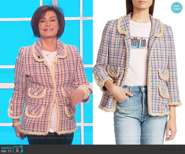The Tweed Jacket by Marc Jacobs worn by Sharon Osbourne  on The Talk