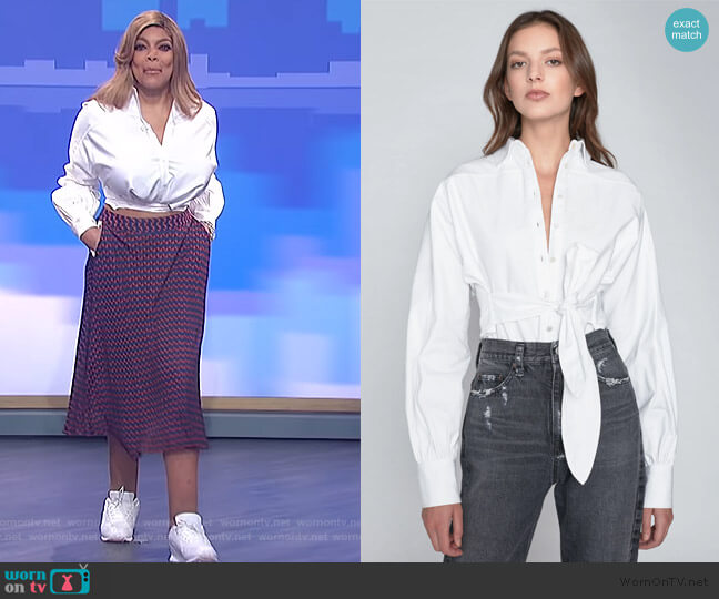 Emmerson Oxford Shirt by Marissa Webb worn by Wendy Williams  on The Wendy Williams Show