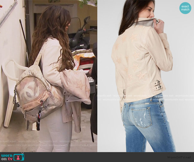 Christy Leather Jacket by Mauritius worn by Teresa Giudice  on The Real Housewives of New Jersey