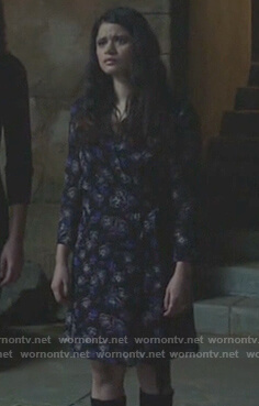 Mel's black floral wrap mini dress on Charmed