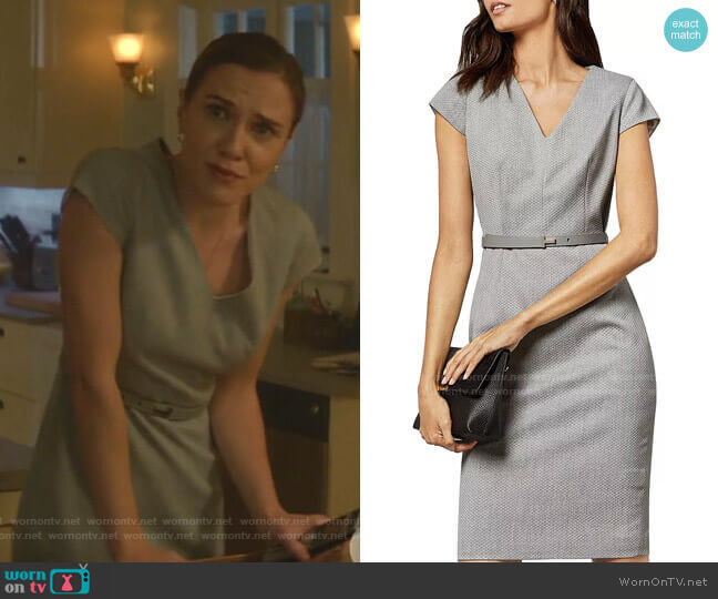 Michahd Belted Sheath Dress by Ted Baker worn by Sara Canning on Nancy Drew