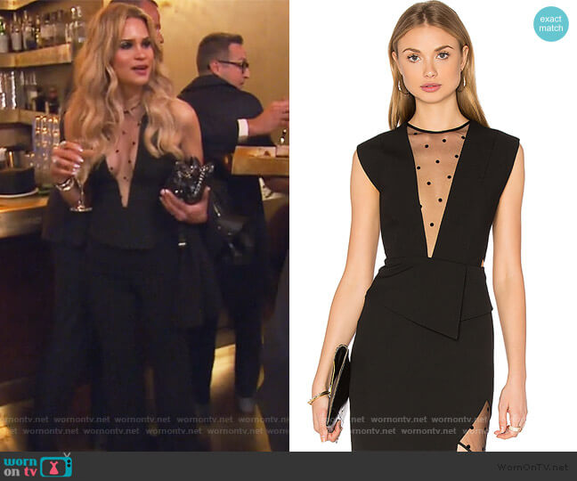 Mesh Plunge Top by Michelle Mason worn by Jackie Goldschneider  on The Real Housewives of New Jersey