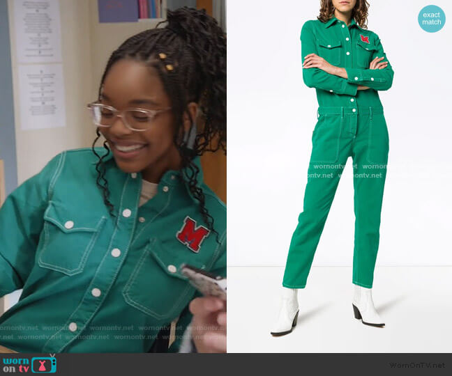 Floral Embroidered Cotton Boiler Suit by Mira Mikati worn by Diane Johnson (Marsai Martin) on Blackish
