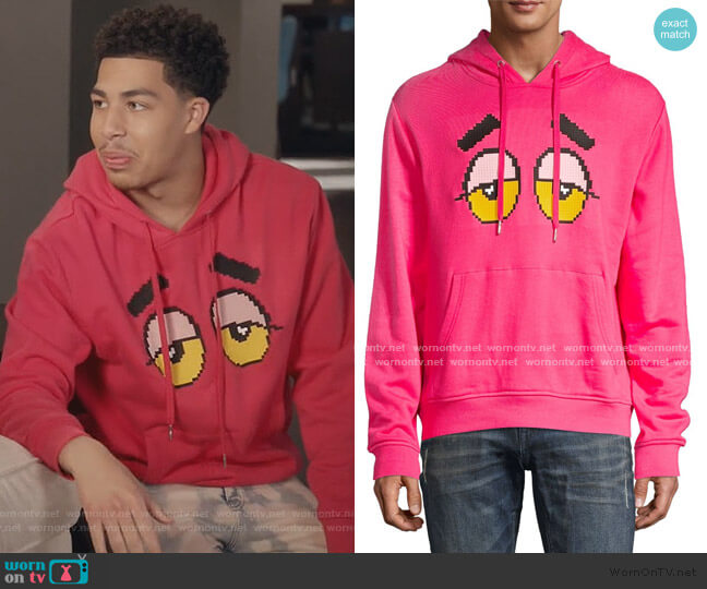 Drowsy Eyes Pullover Hoodie by Mostly Heard Rarely Seen worn by Andre Johnson Jr (Marcus Scribner) on Blackish