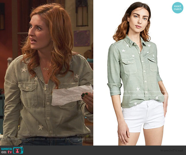 The Trooper Blouse by Mother worn by Chelsea Grayson (Anneliese van der Pol) on Ravens Home