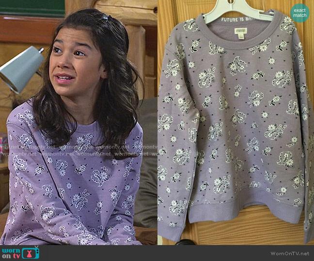 Paisley Sweatshirt by NWT Gymboree worn by Gwen (Scarlett Estevez) on Bunkd