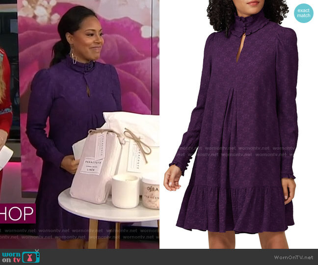 Textured Pintuck Dress by Nanette Lepore worn by Sheinelle Jones  on Today