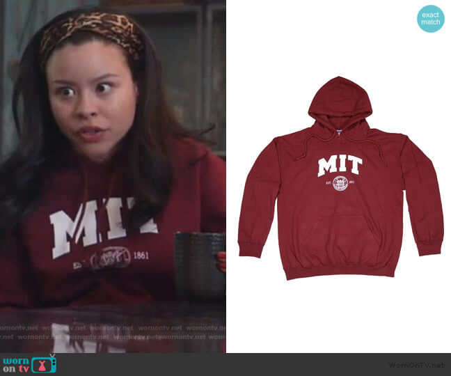MIT Hooded Sweatshirt by New York Fashion Police worn by Mariana Foster (Cierra Ramirez) on Good Trouble