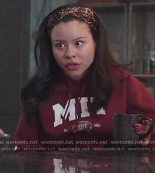 Mariana's red MIT sweatshirt on Good Trouble