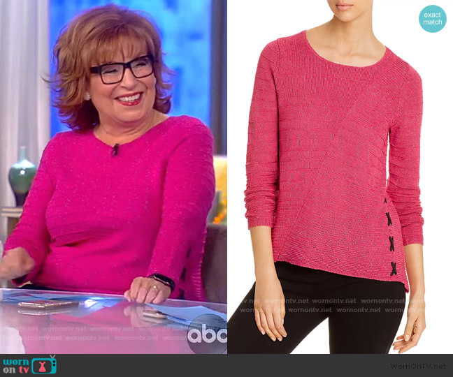 Ribbed Lace-Up Sweater by Nic and Zoe worn by Joy Behar  on The View