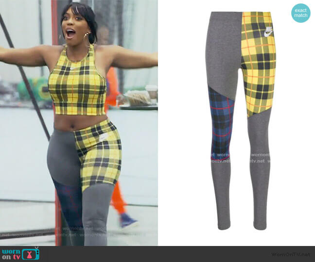 Printed Leggings by Nike worn by Porsha Williams  on The Real Housewives of Atlanta
