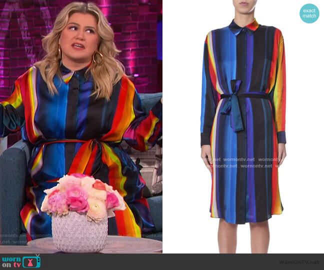 Shirt Dress by PS by Paul Smith worn by Kelly Clarkson  on The Kelly Clarkson Show