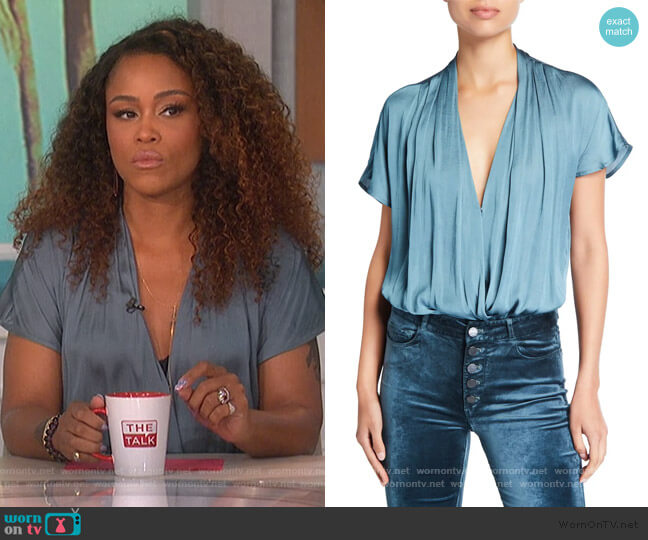 Dijon Shirred Bodysuit by Paige worn by Eve  on The Talk