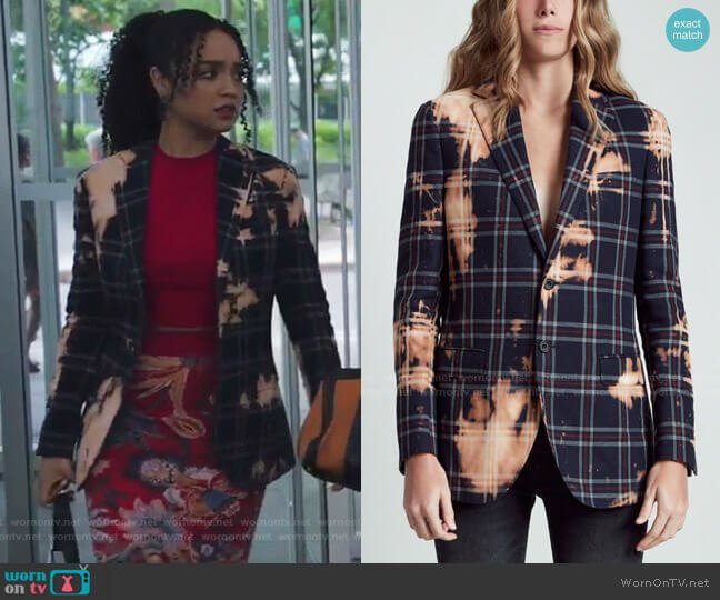 Boyfriend Blazer by R13 worn by Kat Edison (Aisha Dee) on The Bold Type