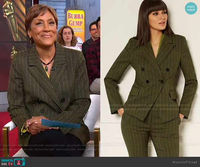 Reilly Blazer - Eva Mendes Collection by New York & Company worn by Robin Roberts  on Good Morning America