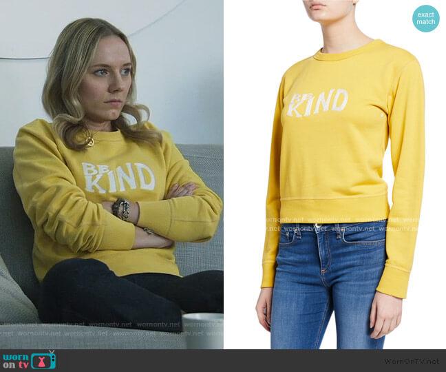 Be Kind Crewneck Sweatshirt by Rag and Bone worn by Seri DeYoung on Good Trouble