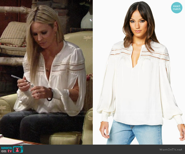 Ramy Brook Maisy Top worn by Sharon Collins (Sharon Case) on The Young & the Restless