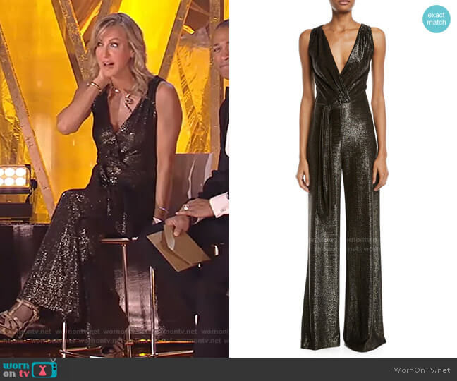 Marybeth Sleeveless Wide-Leg Jumpsuit by Ramy Brook worn by Lara Spencer  on Good Morning America