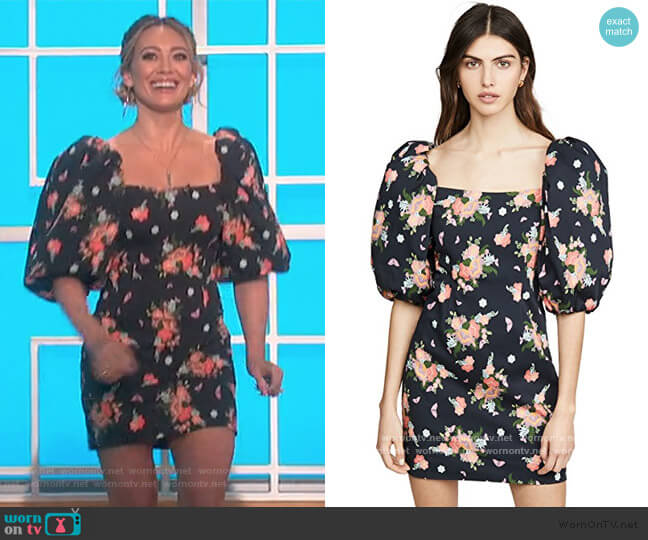First Impressions Dress by Rebecca De Ravenel worn by Hillary Duff on The Talk