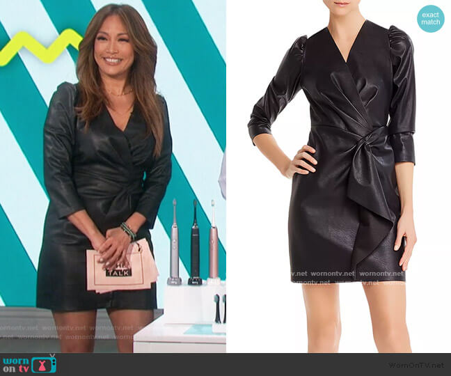 Vegan Leather Dress by Rebecca Taylor worn by Carrie Inaba  on The Talk
