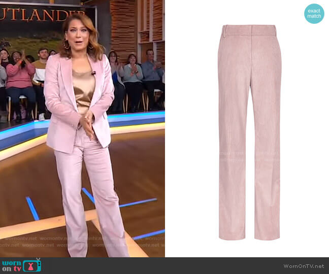 Carey Corduroy Trousers by Reiss worn by Ginger Zee  on Good Morning America