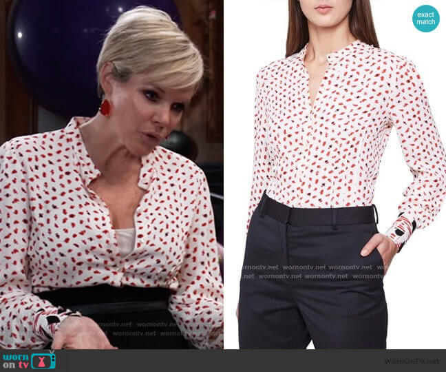 Reiss Kaya Abstract Blouse worn by Ava Jerome (Maura West) on General Hospital
