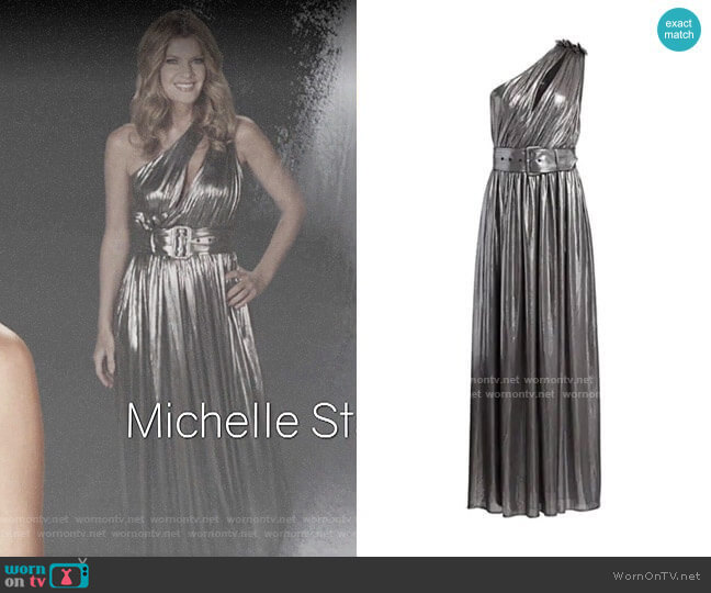 Retrofete Andrea Metallic Dress worn by Phyllis Summers (Michelle Stafford) on The Young & the Restless